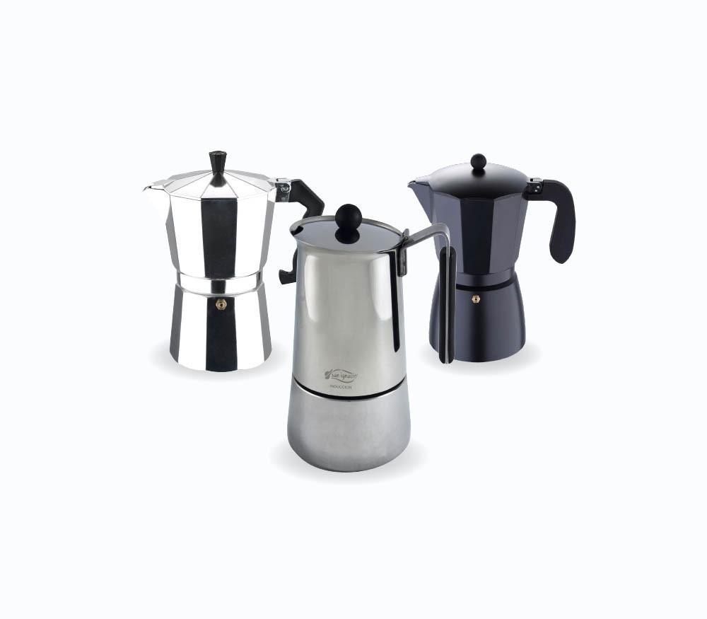 San Ignacio Cafetera 6T Soft Touch Dark Choco Negro Polipropileno Aluminio
